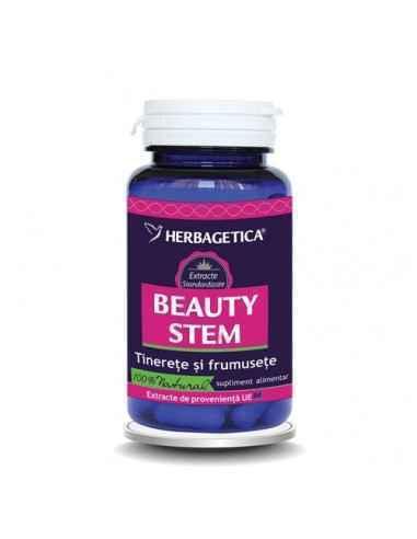 BEAUTY STEM 30 capsule Herbagetica Stimulează producția de colagen, echilibrează sistemul imunitar.