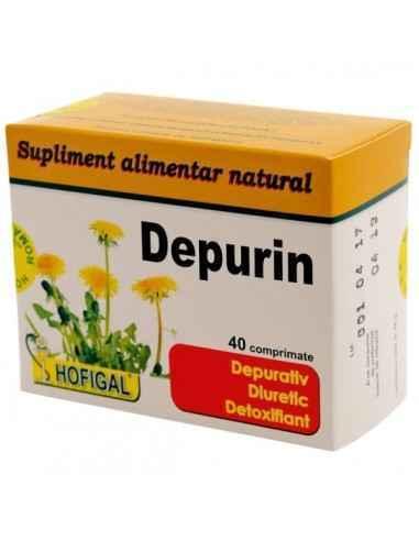 DEPURIN 40CPR - Hofigal Depurin - depurativ si detoxifiant puternic - favorizeaza eliminarea toxinelor si a metalelor grele din
