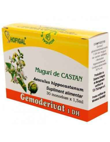 GEMODERIVAT CASTAN 30MONODOZE - Hofigal Actiune benefica asupra: sangelui, aparatului respirator, parului.