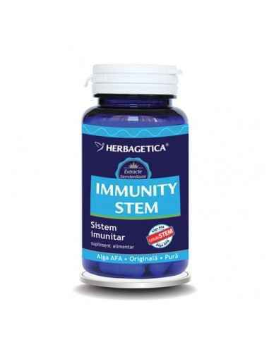 IMMUNITY STEM 30 capsule Herbagetica, IMMUNITY STEM 30 capsule Herbagetica Stimulează sistemul imunitar, protejează organismul î