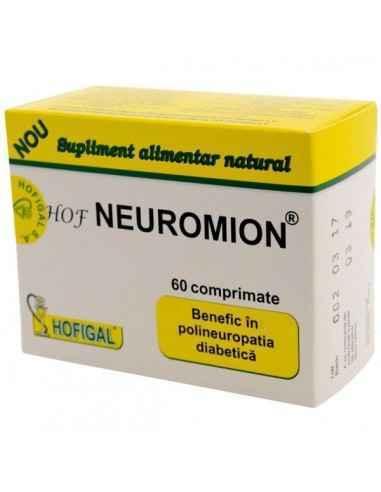 HOF NEUROMION 60CPR - Hofigal Hof Neuromion asigura nutrientii si substantele bioactive necesare suplimentarii dietei pentru sti