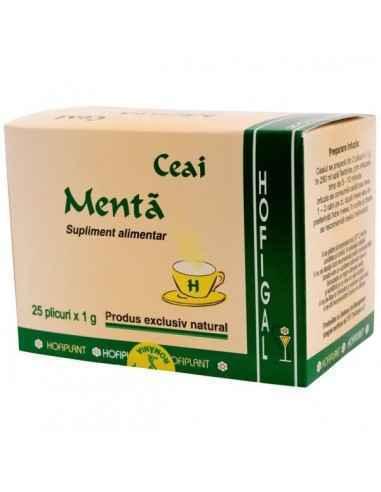 MENTA 25DZ - Hofigal Continutul bogat in uleiuri volatile, flavonoide, acizi fenolici, triterpene, taninuri, colina confera ceai