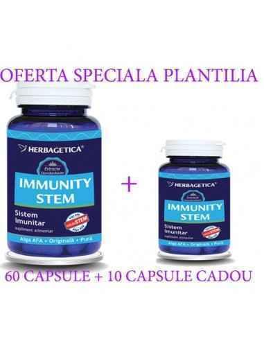 IMMUNITY STEM 60 +10 capsule CADOU Herbagetica, IMMUNITY STEM 60 + 10capsule CADOUHerbagetica Stimulează sistemul imunitar, pr