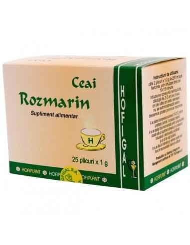 ROZMARIN 25DZ - Hofigal Continutul bogat in substante bioactive confera ceaiului de rozmarin multiple proprietati: tonic-amare,