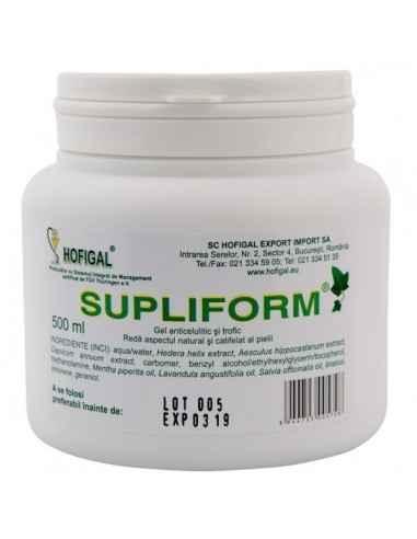 Supliform Gel anticelulitic Hofigal 500 ml, Supliform Gel anticelulitic Hofigal, 500 ml Datorită complexităţii substanţelor bioa