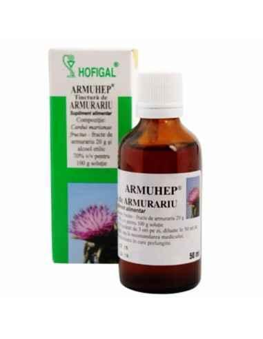 TINCTURA ARMURARIU 50ML - Hofigal Acţiune hepatoprotectoare, depurativă, detoxifiantă, antioxidantă.
