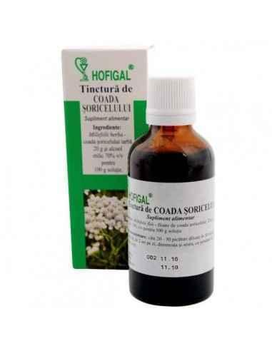 TINCTURA COADA SORICELULUI 50ML - Hofigal Este un stimulent gastric eficient, amplifica secretia sucurilor gastrice, sustine si
