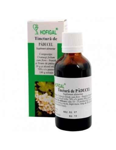 TINCTURA PADUCEL 50ML - Hofigal Tinctura de paducel are proprietati cardiotonice, vasodilatatoare coronariene, capilaro-protecto