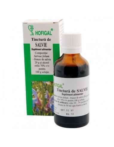 TINCTURA SALVIE 50ML - Hofigal Asigura aportul necesar de nutrienti si substante bioactive in suplimentarea dietei pentru reface