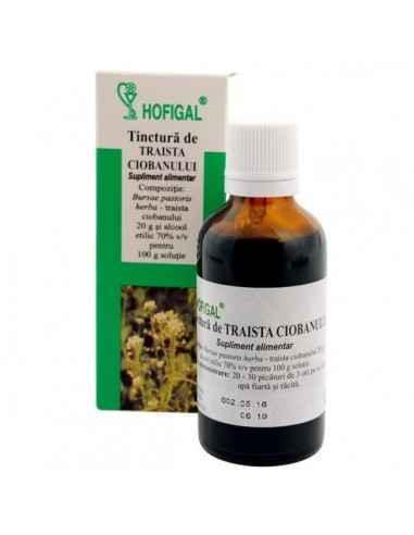 TINCTURA TRAISTA CIOBANULUI 50ML - Hofigal Produsul asigura un aport bogat de nutrienti si substante bioactive necesar supliment