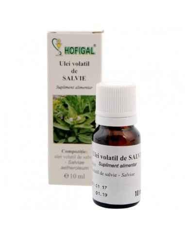 ULEI VOLATIL DE SALVIE 10ML - Hofigal Imbunatateste functiile digestive, favorizand eliminarea gazelor din intestin.