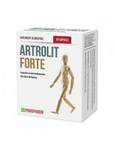 Artrolit Forte, 30cp - Parapharm Este un supliment alimentar conceput pentru mentinerea sanatatii cartilajului osos care optimiz