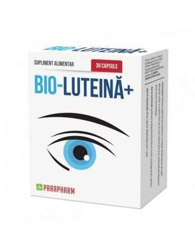 Bio Luteină, 30cp - Parapharm Contine nutrienti esentiali pentru pastrarea nealterata a vederii.