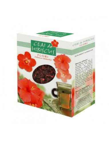 Ceai Hibiscus, 75g - Parapharm Efectele sale nutritive deriva din continutul foarte ridicat de flavonoide si vitamina C, substan