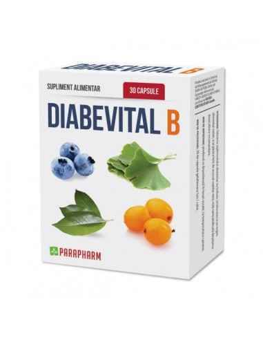 Diabevital-B-caps pt diabetici, 30cp - Parapharm Este un supliment alimentar recomandat in special persoanelor care sufera de d