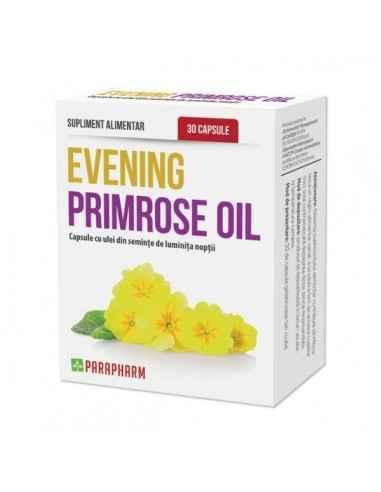 Evening primrose –ulei din seminţe luminiţa nopţii, 30cp - Parapharm Uleiul de luminita noptii este foarte apreciat, fiind o sur