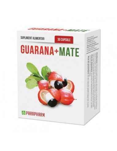Guarana + Mate, 30cp - Parapharm Guarana si Mate sunt doua plante din padurile tropicale amazoniene, folosite de secole de indie