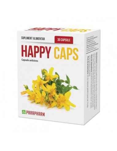 Happy Caps capsule antistress, 30cp - Parapharm Aceasta combinatie unica de superconcentrate din plante medicinale si minerale
