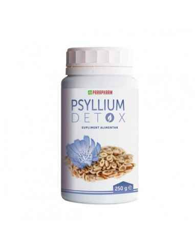 Psyllium Detox, 250g - Parapharm Acest supliment alimentar este o sursa naturala de fibre alimentare solubile si insolubile, aci