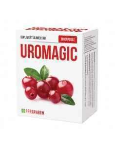 Uro-Magic cu extract de merişor, 30 cps - Parapharm, Uro-Magic cu extract de merişor, 30cp - Parapharm Suplimentul alimentar Uro