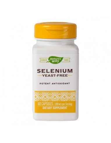 Selenium (Seleniu) 200 mcg 60 capsule Nature's Way Antioxidant intracelular endogen cu rol in protejarea impotriva stresului oxi