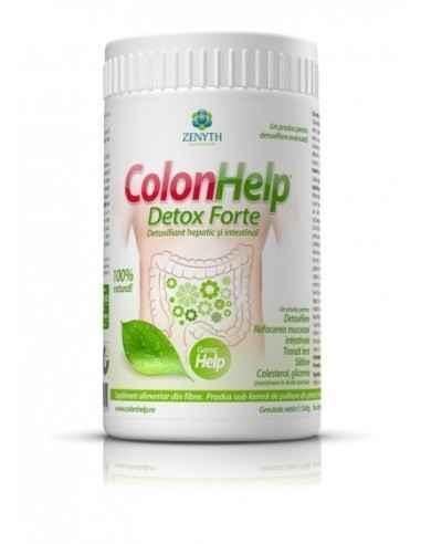 Colon Help Detox Forte 240gr ZENYTH PHARMA ColonHelp Detox Forte are acțiune simultană de detoxifiere a colonului și ficatului: