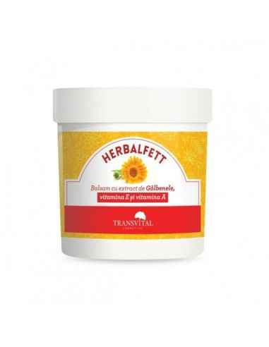 Herbalfett, balsam cu extr. de gălbenele, vitamina A și E, 250 ml - Transvital Quantum Balsamul cu extract de galbenele, vitami