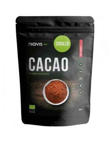 CACAO PULBERE ECOLOGICA (BIO) 250GR - Niavis, CACAO PULBERE ECOLOGICA (BIO) 250GR - Niavis Pulberea de cacao criollo RAW este ce