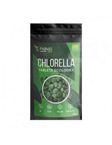 CHLORELLA TABLETE ECOLOGICE 125GR - Niavis Chlorella face parte din trio-ul de succes al algelor verzi, fiind o alge unicelulara