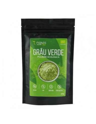 IARBA DE GRAU PULBERE ECOLOGICA (BIO) 125GR - Niavis Una dintre cele mai apreciate plante ale naturii, Iarba de Grau verde este