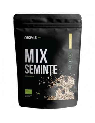 MIX SEMINTE ECOLOGICE (BIO) 250GR - Niavis Acest mix delicios alcatuit din seminte de floarea soarelui, seminte de in si seminte