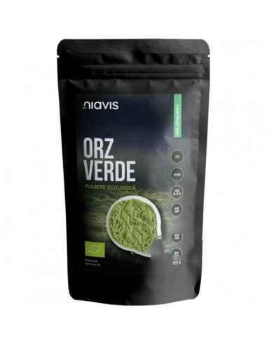 ORZ VERDE PULBERE ECOLOGICA (BIO) 125GR - Niavis Orzul Verde este cea mai bogata sursa de hrana verde, aducand un aport pretios