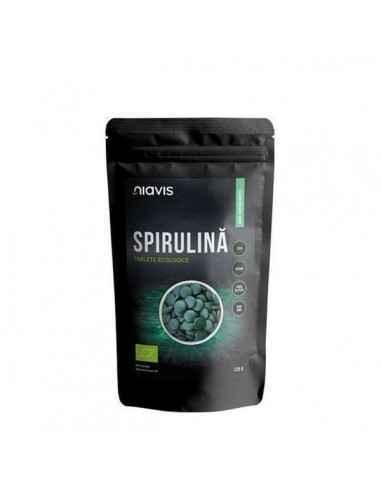 SPIRULINA TABLETE ECOLOGICE 125GR - Niavis Spirulina este o microalgă de culoare verde-albăstrie, una dintre cele mai vechi form