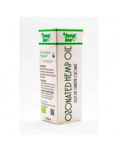 ULEI OZONAT DE CANEPA 20ml HempMed Pharma Se recomanda ca fiind cel mai eficient ulei esential in tratarea unor afectiuni cutana