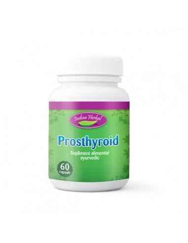 Prosthyroid 60cps Indian Herbal Prosthyroid este un produs special conceput pentru a regla functia tiroidiana si a reface echili