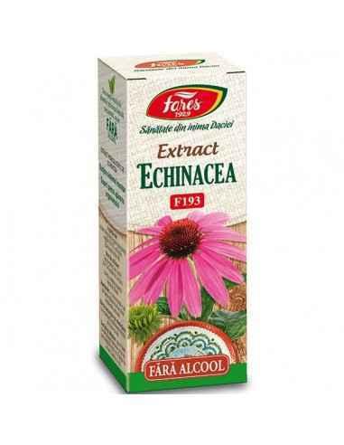 Extract Echinacea 50ml Fares Formula concentrata, fara alcool, de Echinacea ce pastreaza caracteristicile organoleptice specific