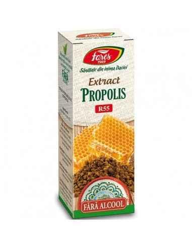 Extract Propolis 20ml Fares Propolisul, unul dintre produsele albinelor, este o substanţă răşinoasă depusă de albine la baza stu