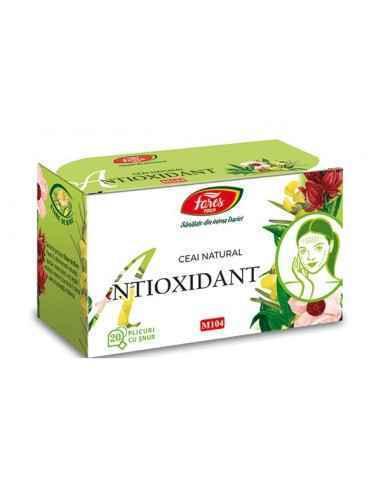 Antioxidant Ceai 20 plicuri Fares Combate radicalii liberi din organism, combate oxidarea și degradarea celulară, protejează org