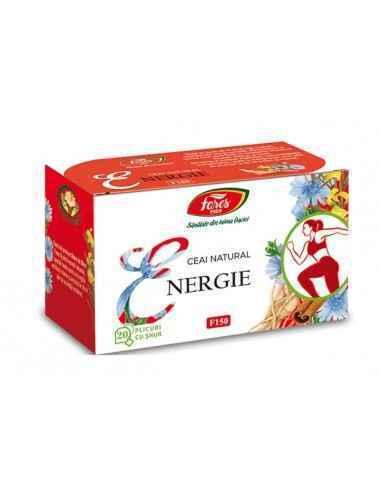 Ceai Energie 20 plicuri Fares,  Ceai Energie 20 plicuri Fares Conferă energie și vitalitate, îndepărtează oboseala și somnolența
