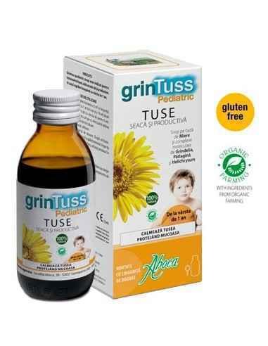 SIROP GRINTUSS TUSE COPII 180GR ABOCA Formula produsului Grintuss Pediatric a fost special studiată pentru a putea fi utilizată