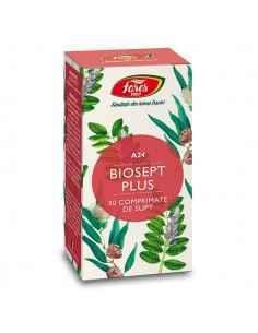 Biosept Plus A24 30 cps Fares, Biosept Plus A24 30 cps Fares Biosept Plus comprimate contine 3 plante cheie pentru apărarea orga