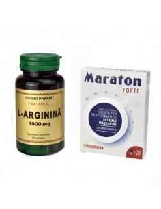Pachet Maraton Forte 20 cps Parapharm + L-Arginina 1000mg 30cps Cosmopharm, Pachet Maraton Forte 20 cps +L-Arginina 1000mg 30c