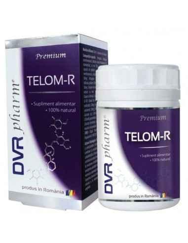 Telom-R 120 capsule DVR Pharm Telomerii reprezintă o regiune de ADN situată la capătul fiecărui cromozom. Aceștia au rolul de a