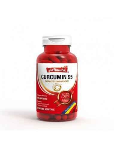 Curcumin 95 30 cps AdNatura, Curcumin 95 30 cps AdNatura Susține sănătatea articulațiilor și oaselor.