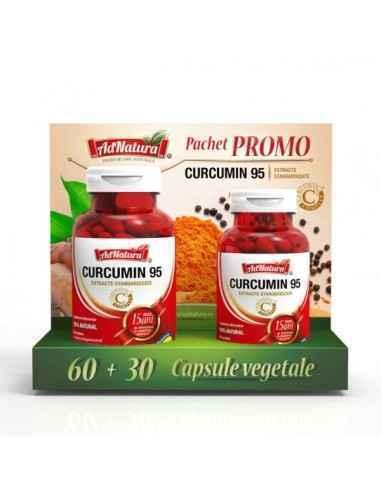 Curcumin 95 60 + 30 cps AdNatura Susține sănătatea articulațiilor și oaselor.