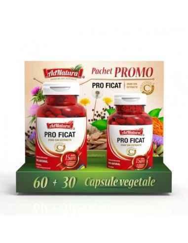 Pro Ficat 60 + 30 cps AdnaturaContribuie la detoxifierea, protecția și sănătatea ficatului prin Armurariu.
