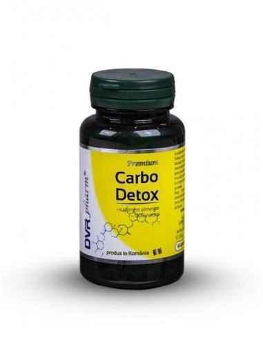 Carbo Detox 60 cps DVR Pharm Produsul are o formulă complexă, cu cărbune vegetal activat, aloe ferox (Aloe ferox), urzică (Urtic