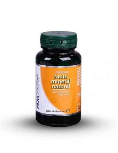 Multimineral Natural 60 cps DVR Pharm Conține nu mai puțin de șase minerale biologice, extrase din surse 100% naturale: Calciu,