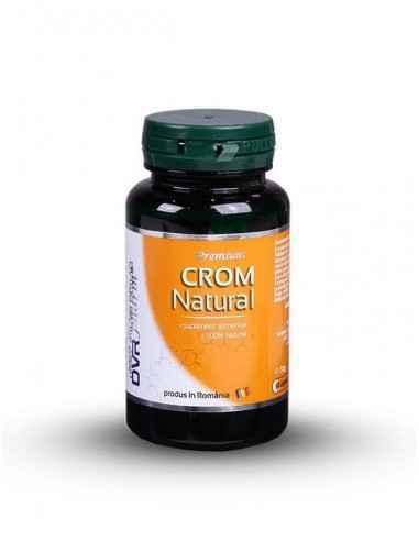 Crom Natural 60 + 30 cps DVR PharmCromul este un mineral pe care organismul îl folosește pentru metabolizarea carbohidraților, a