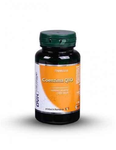 Coenzima Q10 60 + 30 cps DVR Pharm Este o substanță 100% naturală, asemănătoare unei vitamine, substanță care se găsește în fie